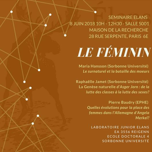Programme – Séminaire de fin d'année «Le Féminin»